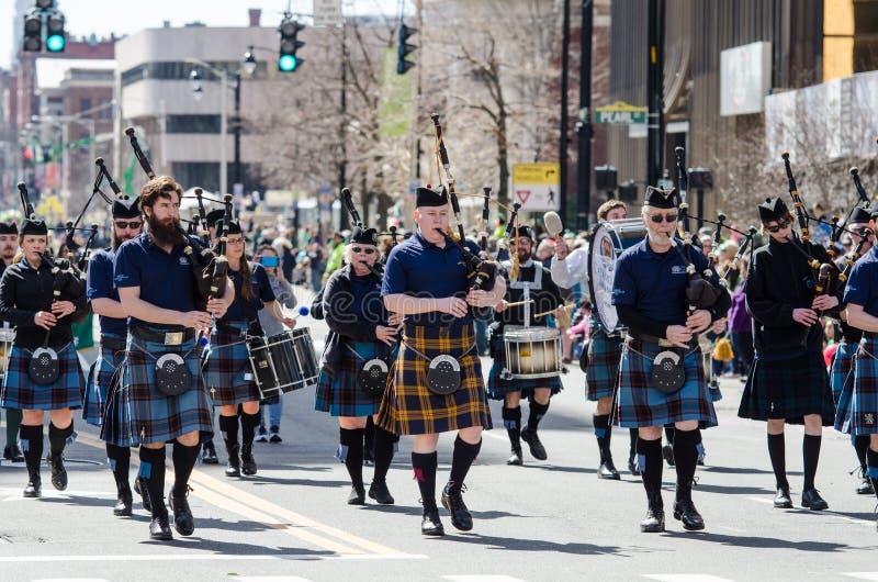 Défilé de jour de St Patrick image stock