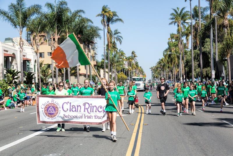 Défilé de jour de St Patricks images stock