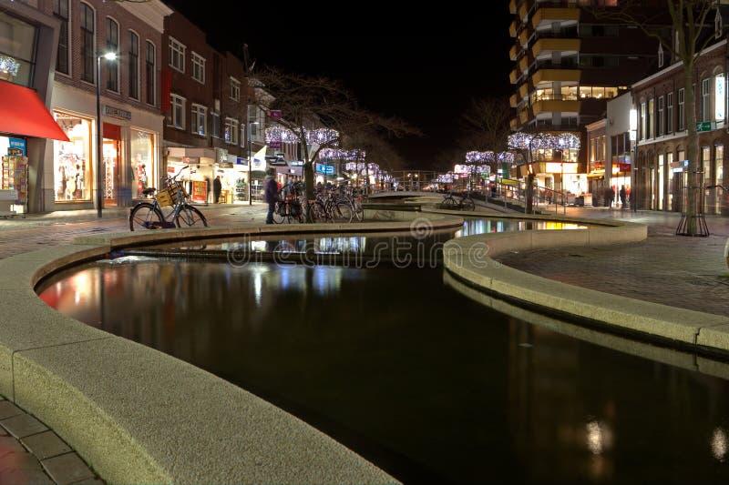 Défilé de lumières du nord dans Hoogeveen, Pays-Bas images libres de droits