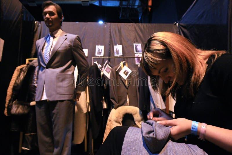 Défilé de mode. à l'arrière plan image libre de droits