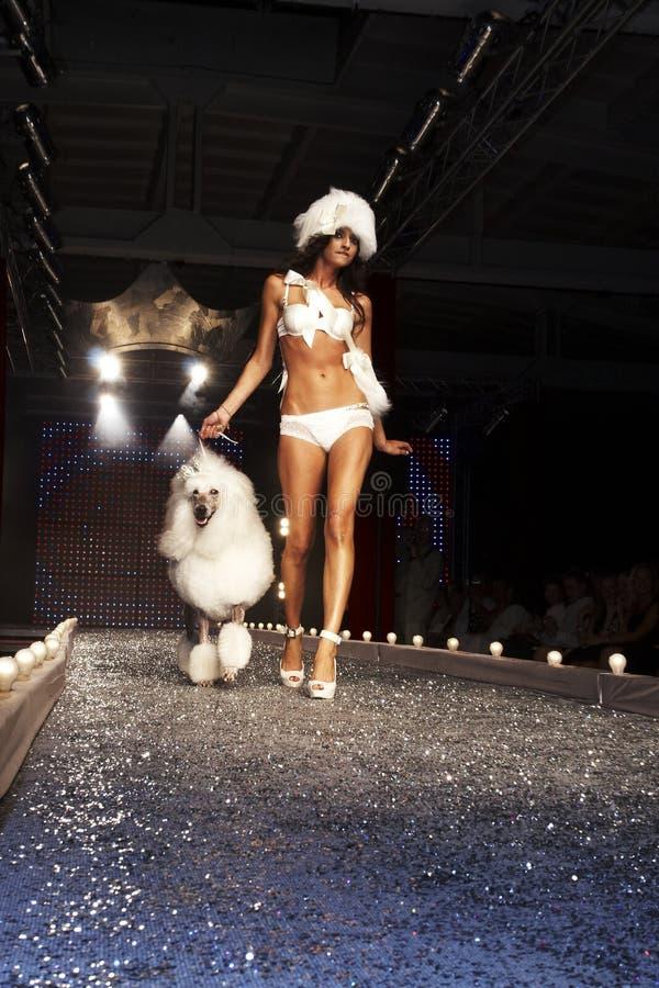 Défilé de mode à Varsovie images libres de droits