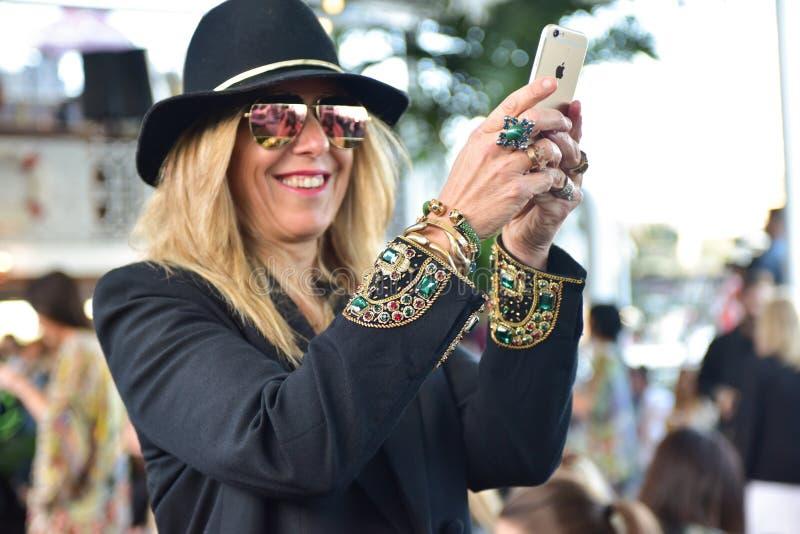 Défilé de mode de Camilla photo stock