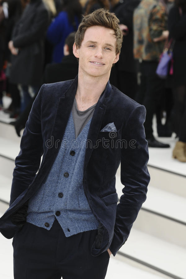 Défilé de mode, Eddie Redmayne photo stock