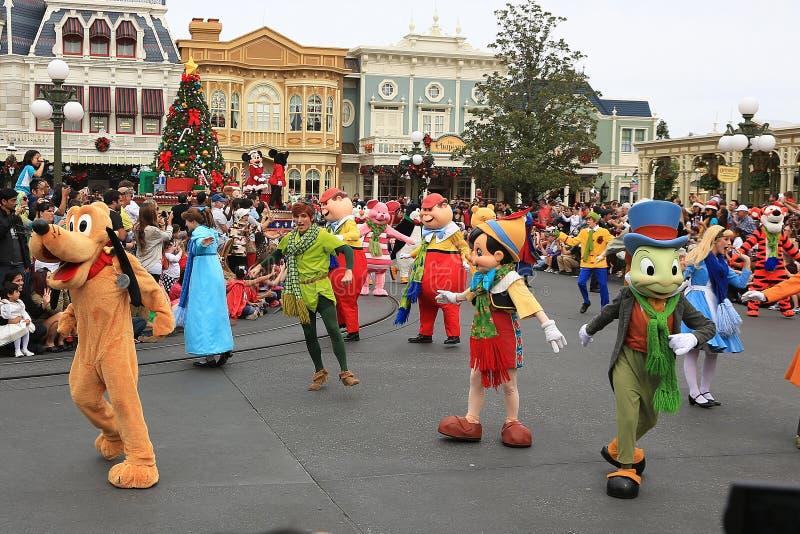 Défilé de Noël de Disney photos libres de droits