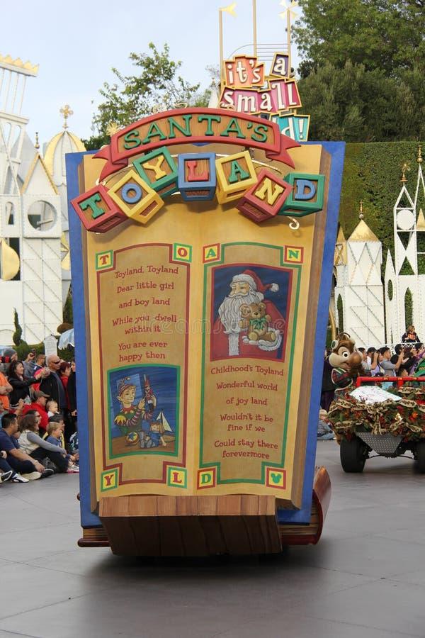 Défilé de Noël de Disneyland images stock