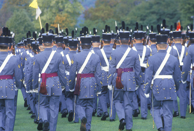 Défilé de retours au pays, académie militaire de West Point, West Point, New York photos libres de droits