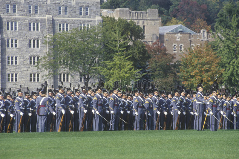 Défilé de retours au pays, académie militaire de West Point, West Point, New York images libres de droits