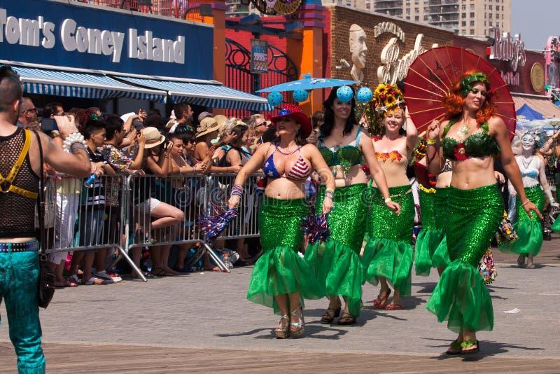 Défilé de sirène de Coney Island images libres de droits