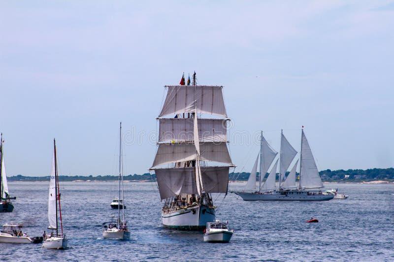Défilé de voile, Newport, RI images libres de droits