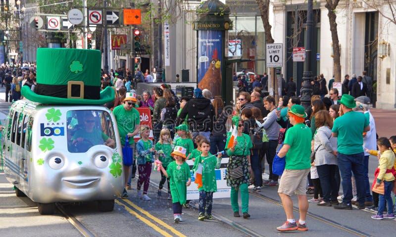 Défilé du jour de 168th St Patrick annuel de San Francisco image stock