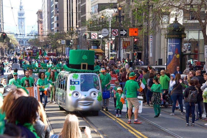 Défilé du jour de 168th St Patrick annuel de San Francisco photo stock