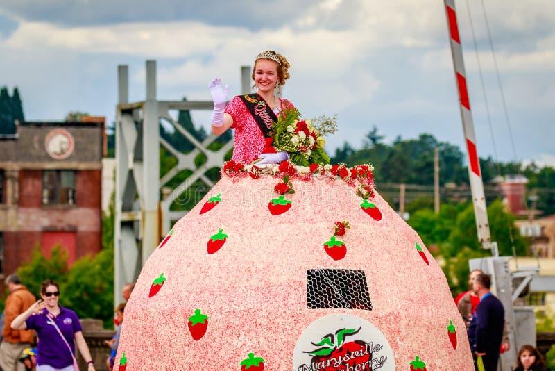 Défilé floral grand 2016 de Portland image stock