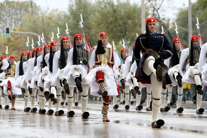 Défilé grec photo libre de droits