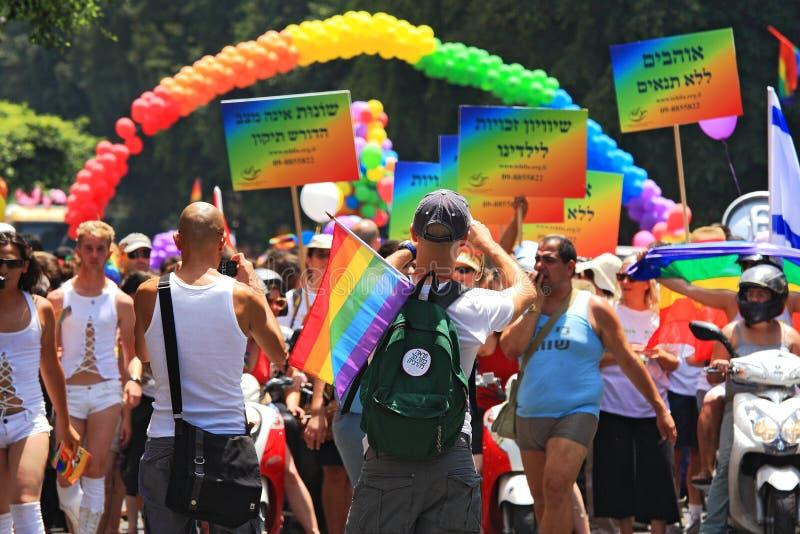 Défilé homosexuel de fierté à Tel Aviv, Israël. image libre de droits