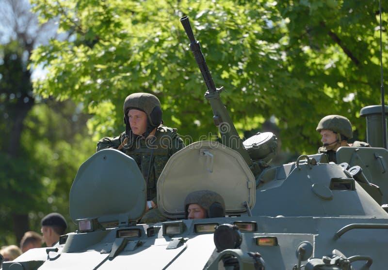 Défilé militaire à Sébastopol, Ukraine photographie stock