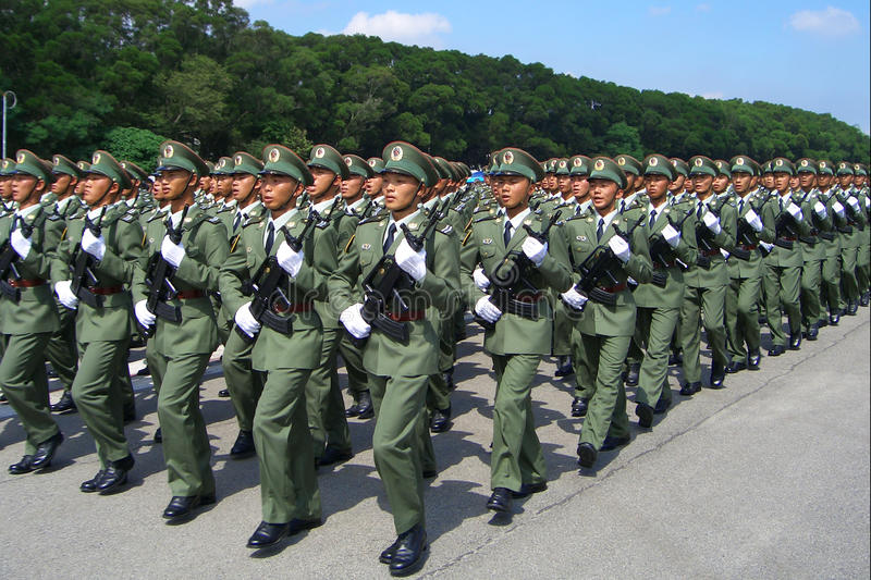 Défilé militaire - Hong Kong, Chine photo stock