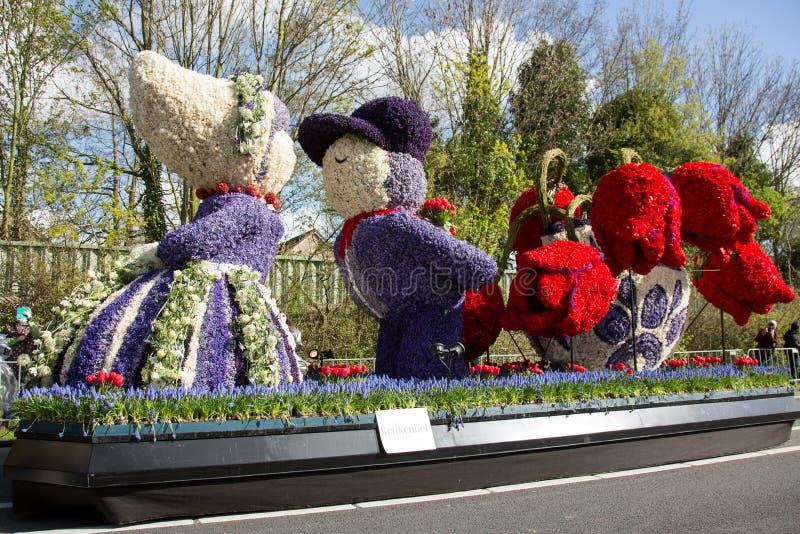 Défilé néerlandais traditionnel de fleurs photo stock