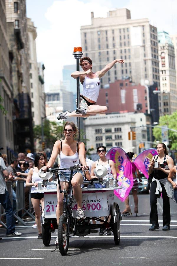 Défilé NYC de danse image stock