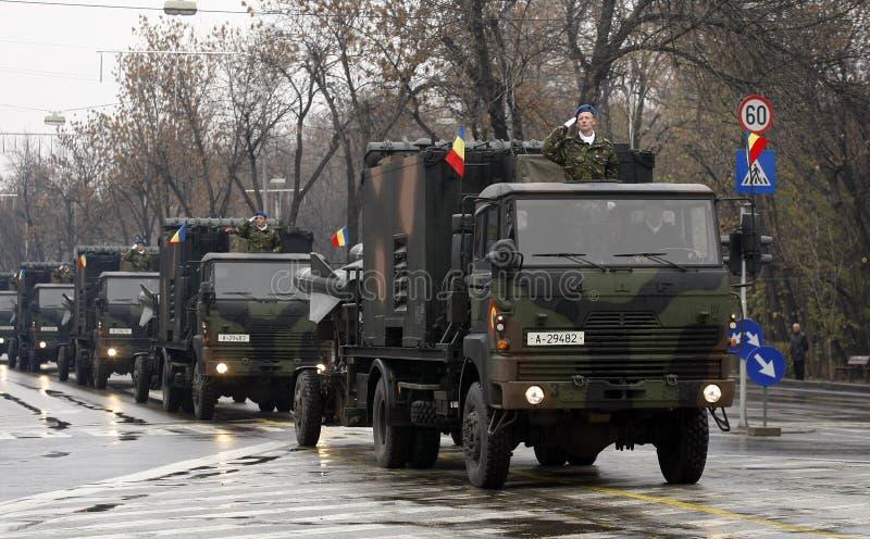 Défilé roumain d'armée photographie stock