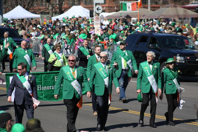 Défilé 2019 XI de jour de St Louis St Patrick images stock