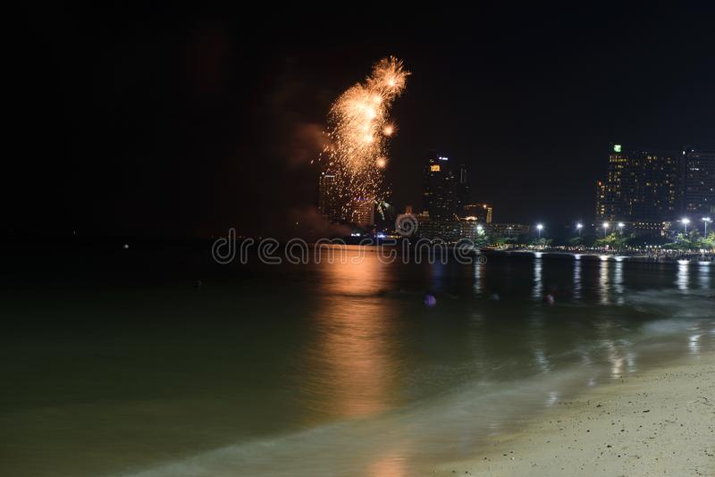 19 11 2017 défilés 2017 navals et internationaux internationaux d'anniversaire du ` s 50 d'ASEAN d'examen de flotte à Pattaya, Th image stock