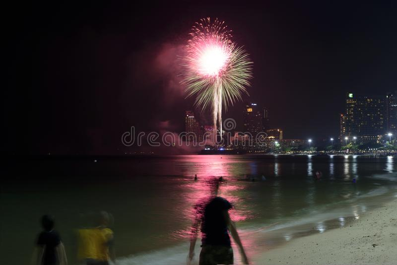19 11 2017 défilés 2017 navals et internationaux internationaux d'anniversaire du ` s 50 d'ASEAN d'examen de flotte à Pattaya, Th photographie stock libre de droits