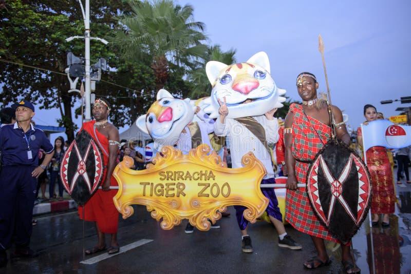 19 11 2017 défilés 2017 navals et internationaux internationaux d'anniversaire du ` s 50 d'ASEAN d'examen de flotte à Pattaya, Th photos stock
