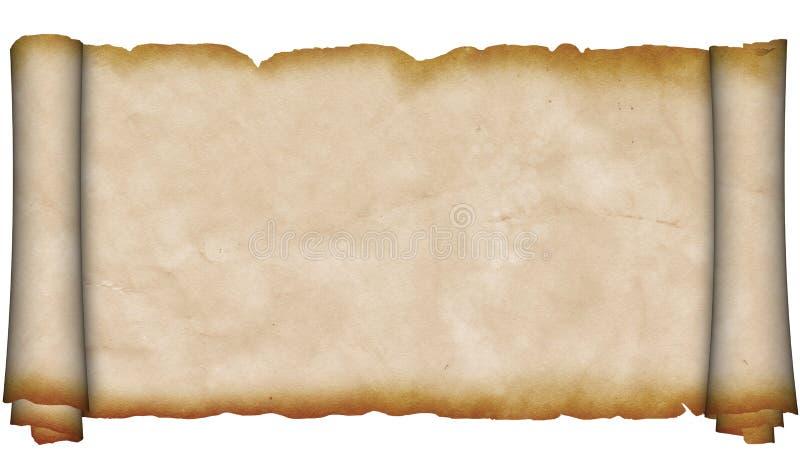 Défilement antique de parchemin. image stock