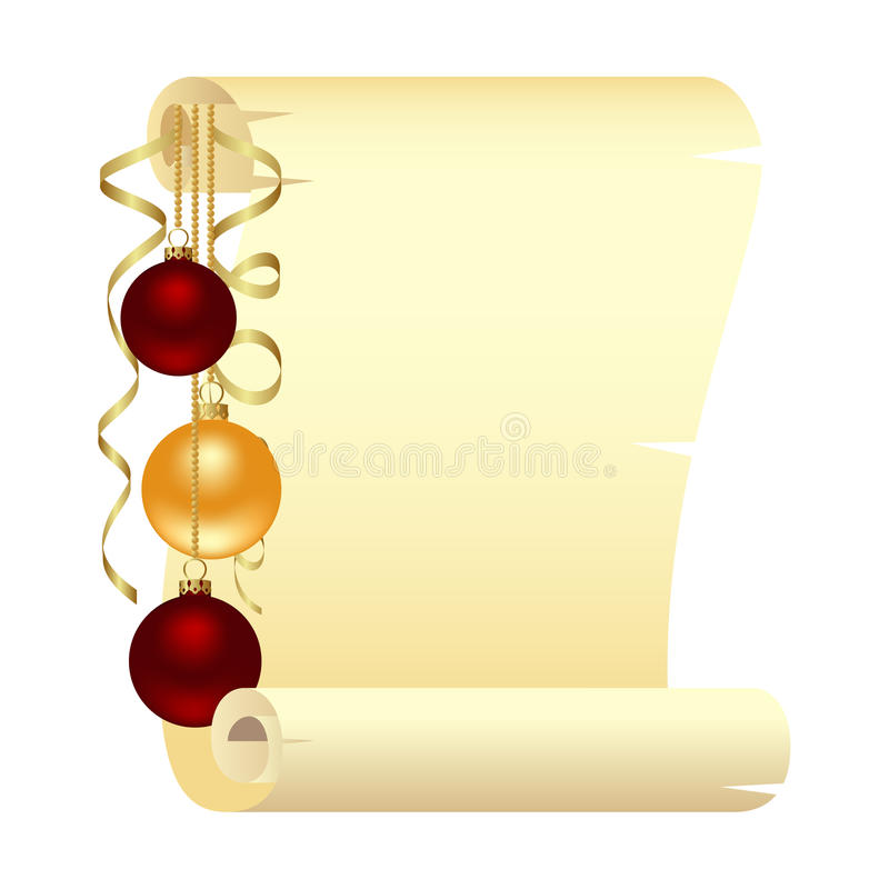 Défilement avec Noël illustration de vecteur