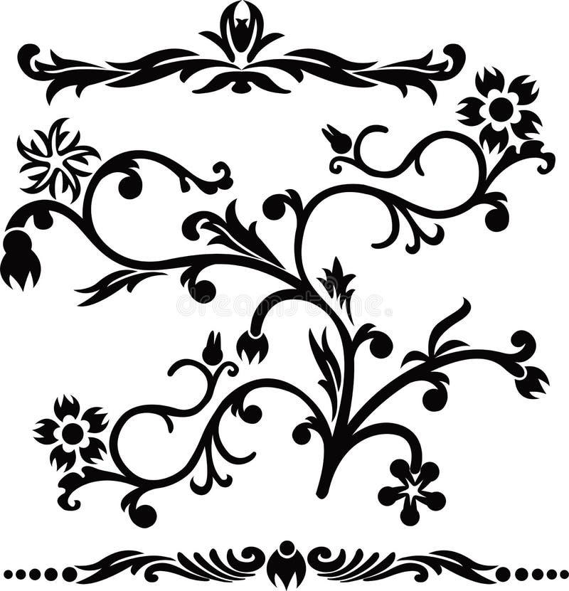 Défilement, cartouche, décor, vecteur illustration libre de droits