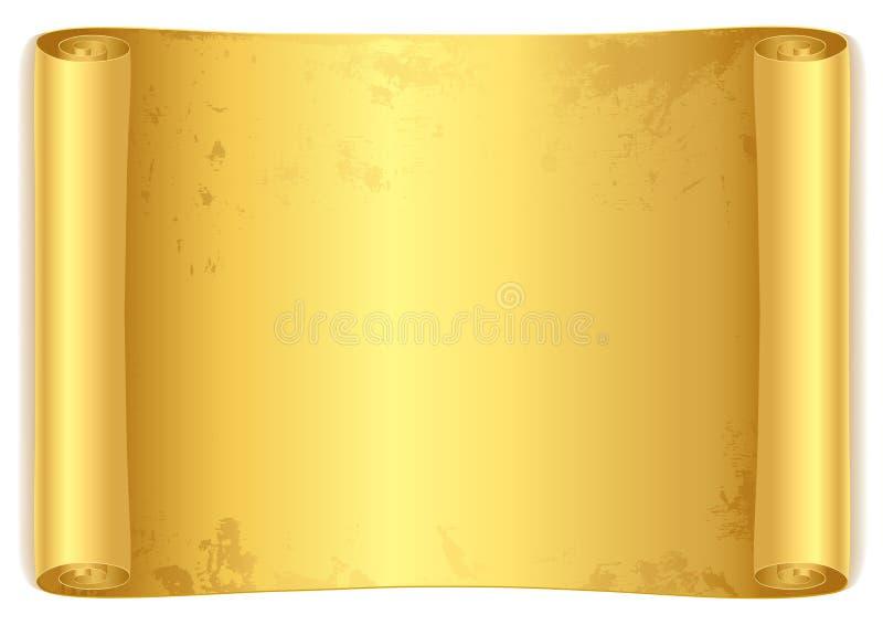 Défilement d'or. illustration de vecteur