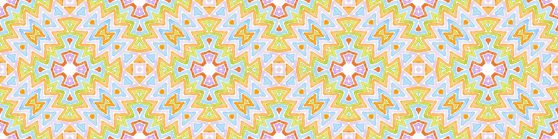 Défilement de bordure coloré et transparent Waterco géométrique image stock