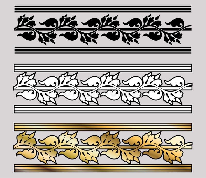 Défilement de conception de type de Vicrtorian illustration stock