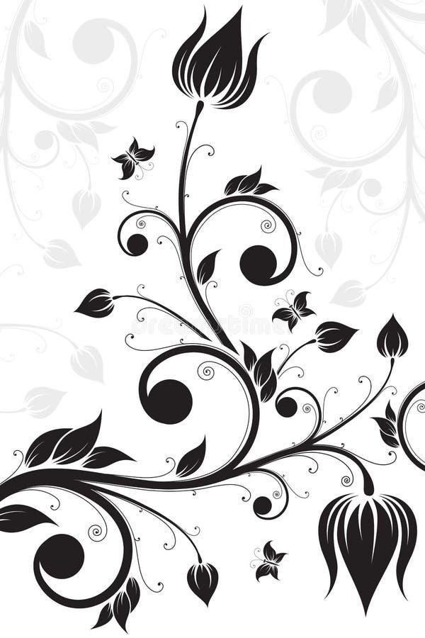 défilement de fleur illustration de vecteur