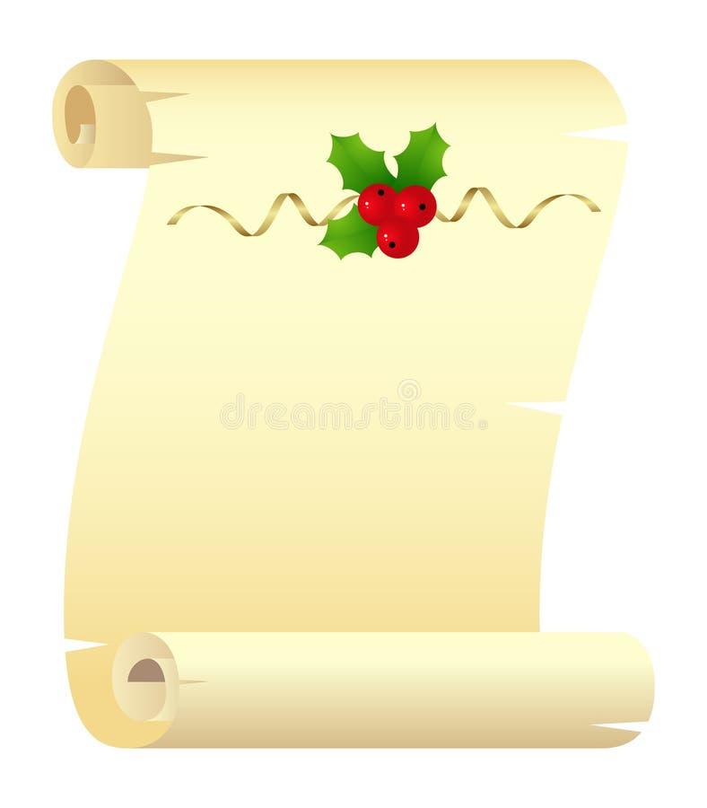 Défilement de Noël illustration libre de droits