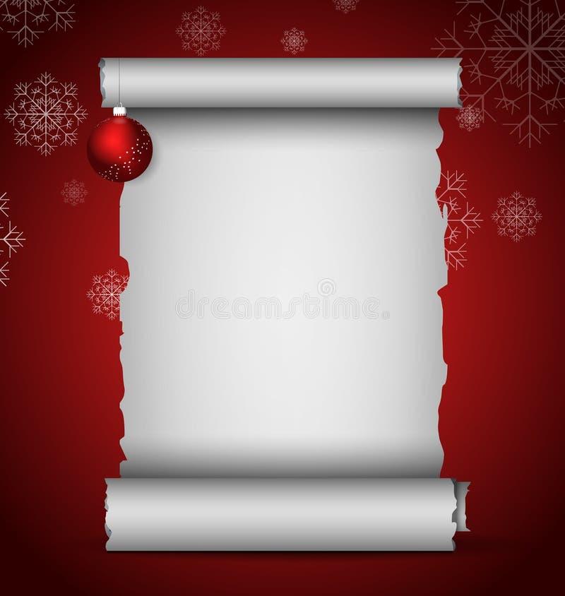 Défilement de Noël illustration stock