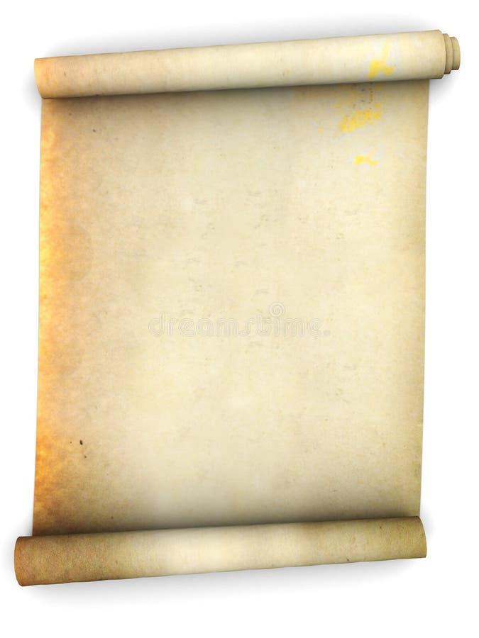 Défilement de papier illustration stock