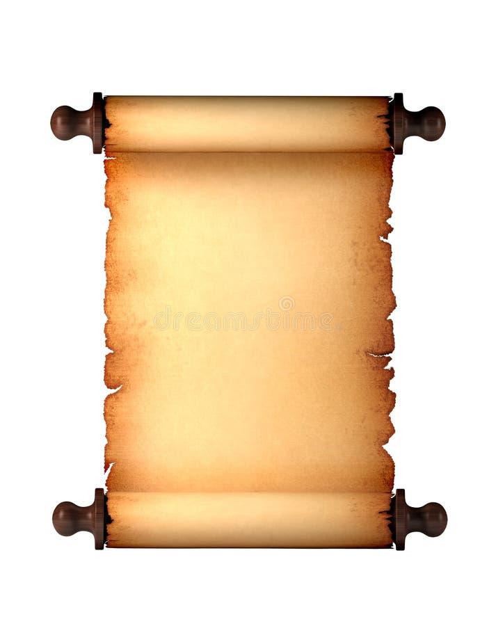 défilement de papier d'antiquité illustration stock