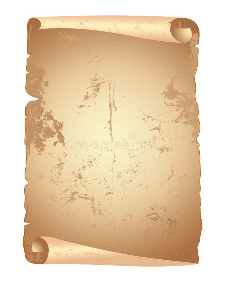 Défilement de papier grunge. illustration de vecteur