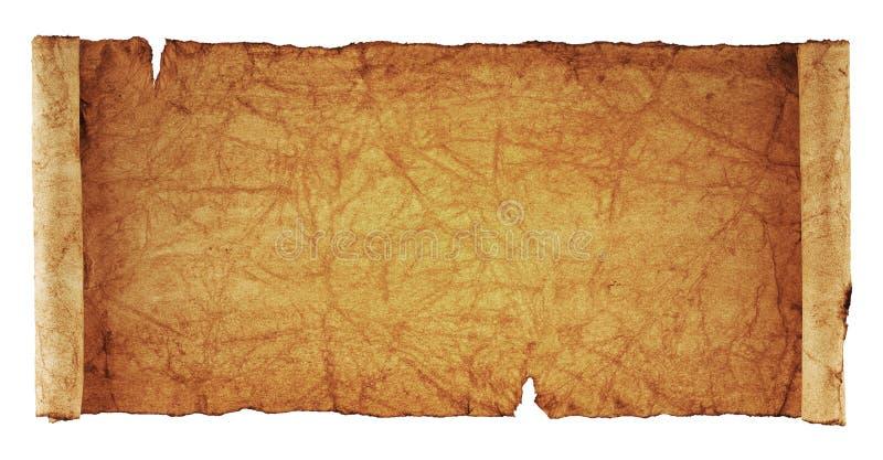 Rouleau de vieux parchemin image stock