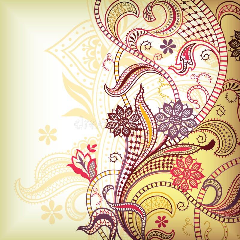 Défilement floral illustration de vecteur