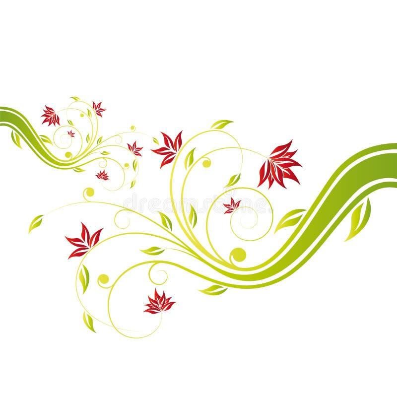 Défilement floral illustration stock