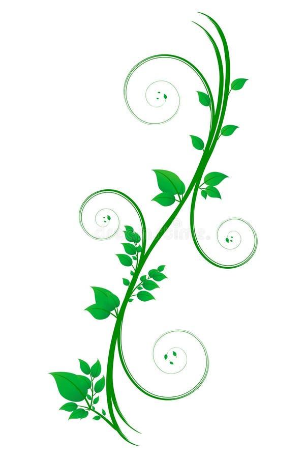 Défilement floral illustration libre de droits
