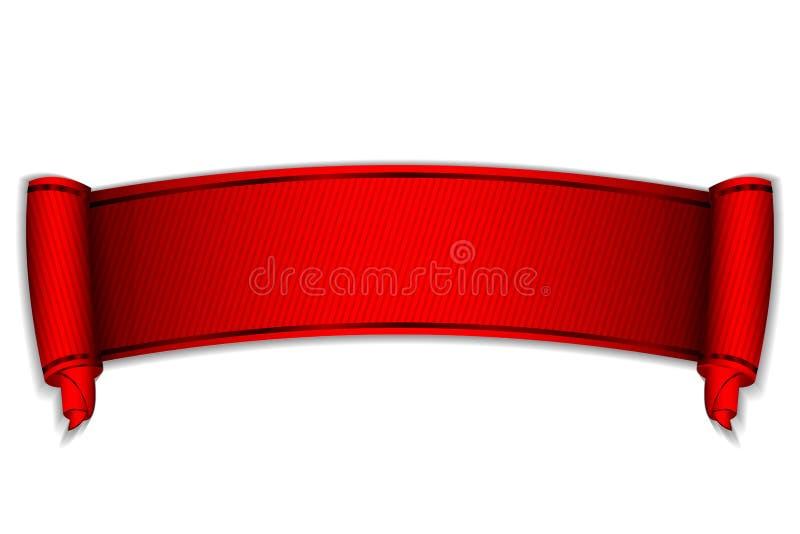 Défilement rouge illustration libre de droits