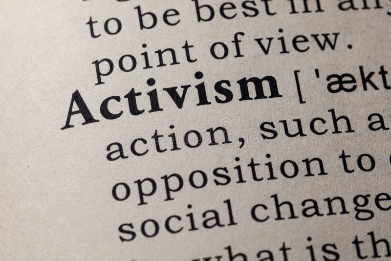 Définition d'activisme photo stock