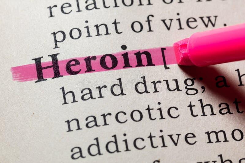 Définition d'héroïne image libre de droits