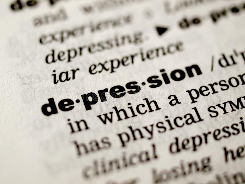 Définition de dépression photo libre de droits