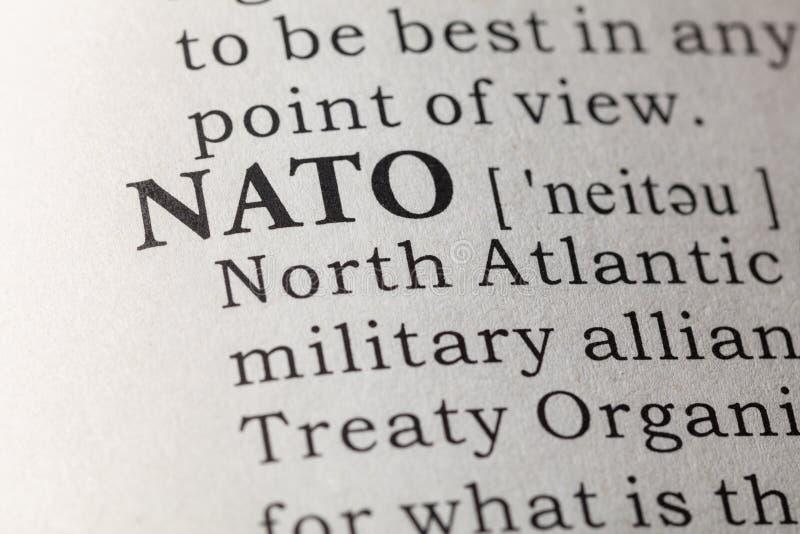 Définition de dictionnaire de l'OTAN photographie stock