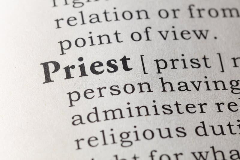 Définition de dictionnaire de prêtre photos libres de droits