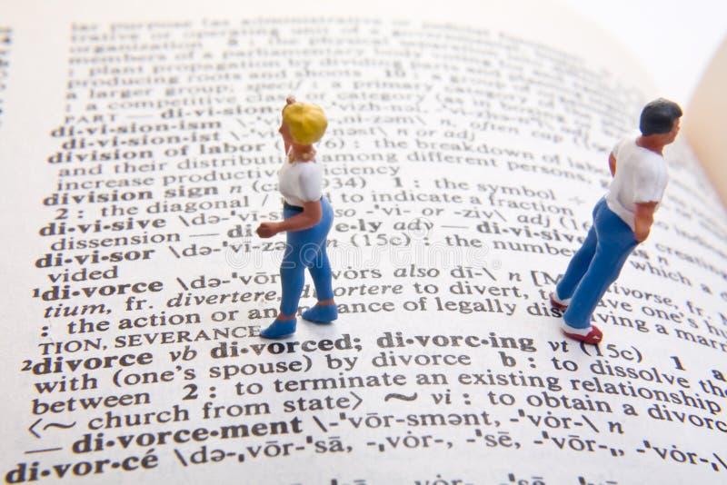 Définition de divorce images stock